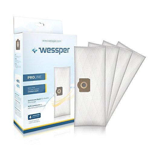 ?WESSPER® Bolsas de aspiradora para Tefal Duo 4680 (4 piezas, sintéticas)
