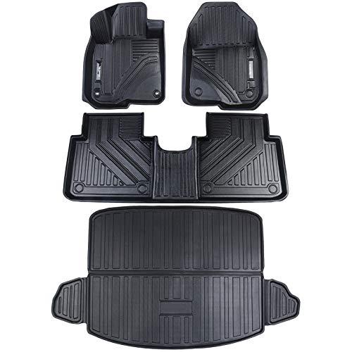 Vanseno Car Floor Mats & Cargo Trunk Liners Set Compatible for Honda CRV 2017 2018 2019 2020 2021...