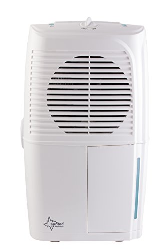 SUNTEC Luftentfeuchter DryFix 10 EQ [Für Räume bis 35 m³ (~15 m²), Entfeuchtungsleistung = 10 l/Tag, Luftreinigungsfunktion, inkl. Wäschetrocknung, 260 Watt]