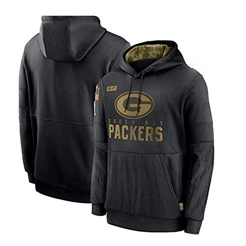 Damen und Herren Hoodie Packers American Football Rugby Winter Pullover 2020 Salute to Service Sideline Performance (XS-XXXXL) Gr. XL, Männer