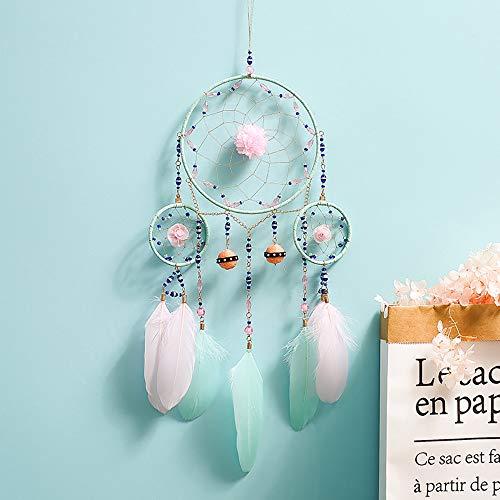 Nice Dream Vintage Traumfänger Handgefertigt, Feder Dreamcatcher Wandbehang Ornament für Mädchen Hochzeit Deko Geschenk