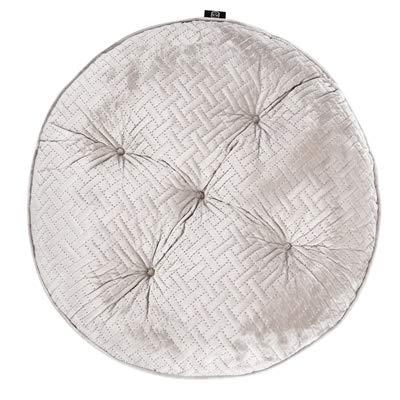 WFBD-CN Quilting Cuscino del Sedile Morbido Velluto Rotonda Texture Piazza Floor Cuscino della Sedia del Divano Cuscini for Il Ministero degli Hotel Solid Verde Grigio