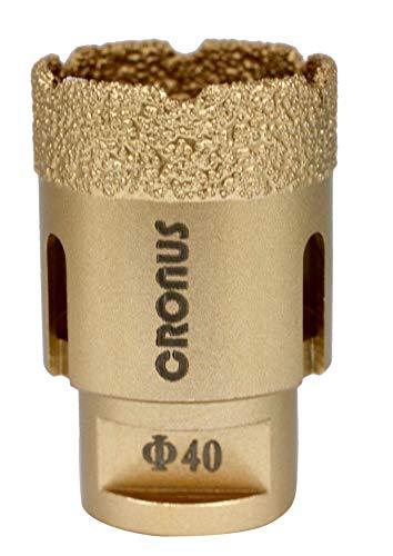 Broca de diamante Premium CRONUS M14 10 mm-65 mm, corona de perforación para azulejos en seco 40 mm