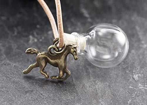 Wunschkugel Pferd mini bronze befüllbar personalisiert Tierhaarschmuck