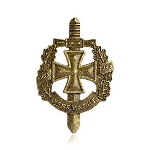 FISH4 Pin und Brosche Bronze Alte deutsche Armee Militär Wehrmacht Pin Abzeichen Hut Tasche Kleidung Anstecknadel Herrenschmuck