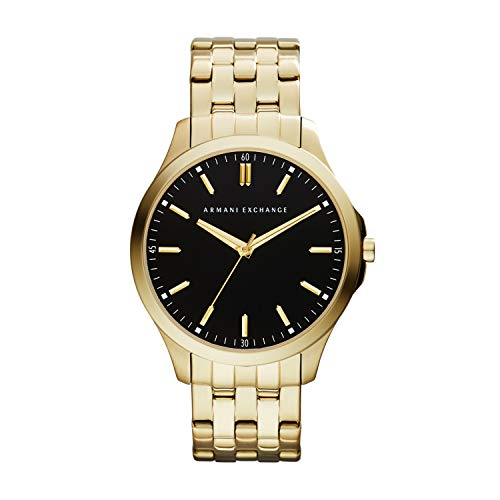 Armani Exchange Herren Analog Quarz Uhr mit Edelstahl Armband AX2145