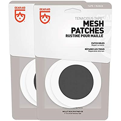 "GEAR AID Tenacious Tape Mesh Patches for Tent and Bug Screen Repair, 3"" Rounds, 2-pk"