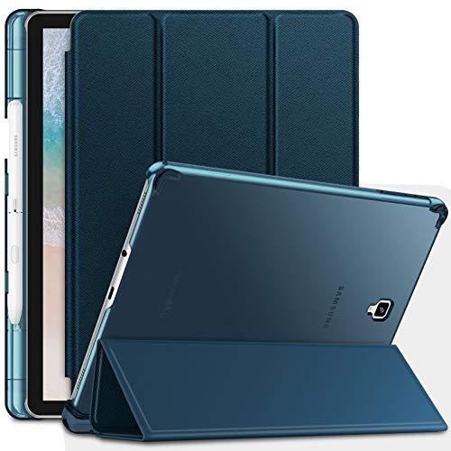 INFILAND Samsung Galaxy Tab S4 10.5 2018 Hülle Case mit S Pen Halter, Superleicht Smart Schutzhülle mit Auto Schlaf/Wach Funktion Compatible with Galaxy Tab S4 10.5 (SM-T830/SM-T835),Dunkleblau