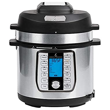 Emeril Everyday Pressure Cooker, 6 QT With Accessory Pack, CLEAR