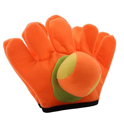 Toporchid Handschuhe Sticky Ball Spielzeug Kinder Sucker Schläger Handschuhe Werfen Ball Spielzeug (klein)