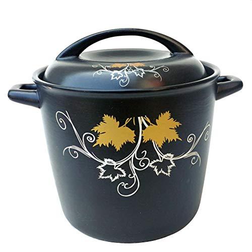 Cocotte ronde anti-adhésive avec double poignées pour cuisine, revêtement anti-adhésif haute résistance, grande casserole en céramique, noir, Fer, couleur, 6L