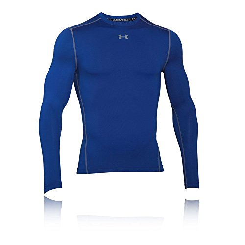 Under Armour UA CG Armour Crew Chemise à Manches Longues Homme, Royal, FR : S (Taille Fabricant : SM)