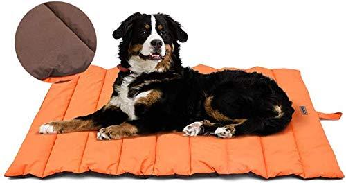 XIAPIA wasserdichte Hundematte für Outdoor Waschbares Hundebett, Antistatik, Hygienisch, Faltbar, Große Reisedecke für Haustier 110 x 68 cm (Orange/Braun)