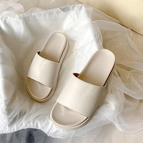 Pantofole in Pelle per Uomo,Cari Sandali pelati, Sandali di Grossa Misura di Grandi Dimensioni-Albicocca_37,Espadrillas Sandali