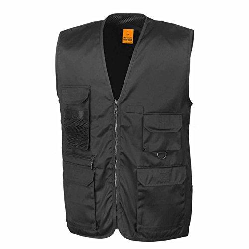 RESULT - gilet reporter multipoches - veste légère sans manches BODYWARMER - réf R045X - noir - mixte homme / femme (XL)