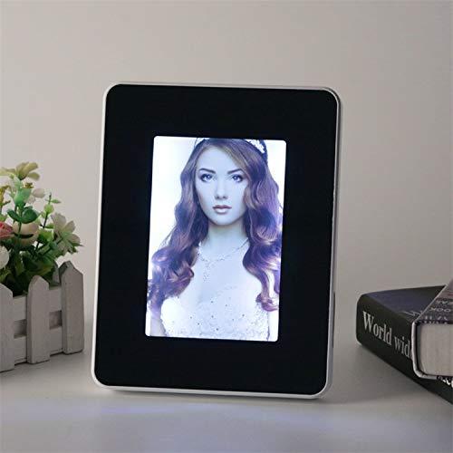 VIRCA fotolijst wit spiegel 22 x 17 multifunctioneel met LED-licht formaat foto 13 x 18