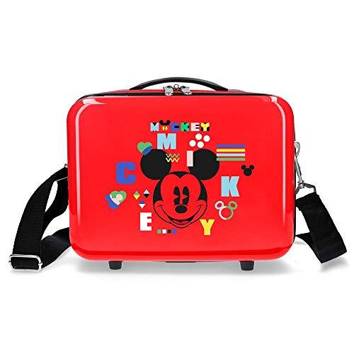 Disney Mickey Shape Shifter Neceser Adaptable Multicolor 29x21x15 cms Rígido ABS 9,14L 0,84 kgs