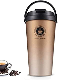 18/8 Stainless Steel Double Wall Vacuum Insulated Travel Coffee Mug with Handle/Portable Thermal Cup,Wide Mouth Tumbler wi...