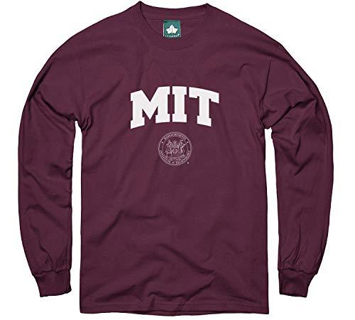 Ivysport MIT Engineers Long Sleeve T-Shirt, Crest, Maroon, Large