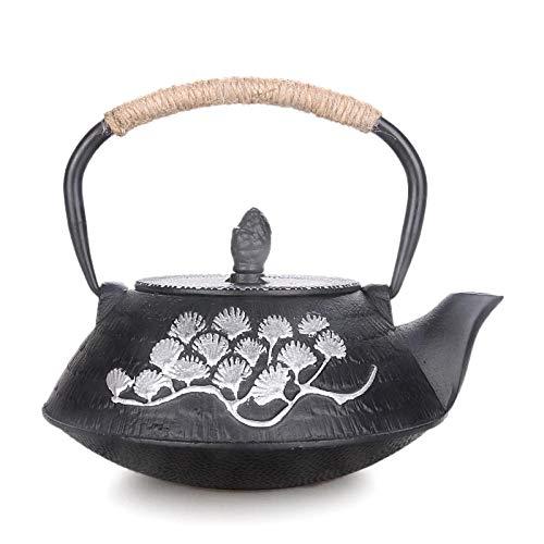 Teekanne Aus Gusseisen Teekanne Handgefertigt Gusseisen Wasserkocher Teekanne Mit Filternetz Tee Tannennadel Zeichnung Gold Gesundheit Kessel 0 8L