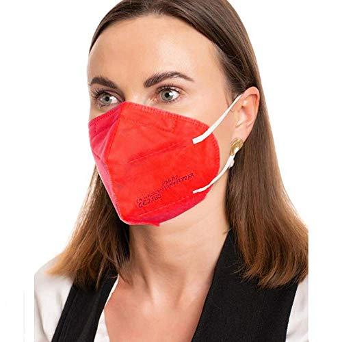 ProMedicalCare. Mundschutz FFP2 Maske rot, Mundschutz Maske FFP2 rot, Masken Mundschutz FFP2, 5er Pack