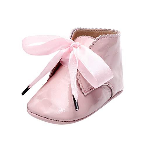 Alwayswin Baby Mädchen Booties Neugeborene Erste Wanderer Schuhe Kurze Stiefel Mode rutschfeste Lauflernschuhe Step Schuhe Lederstiefel Stiefeletten Warme Bequeme Lederschuhe