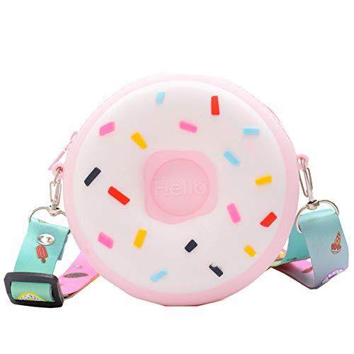 Münzbeutel für Kinder, Donut-Tasche für Kinder, aus Silikon, süßes Messenger-Taschen für kleine Jungen und Mädchen, Crossbody Süßigkeiten Geldbörse für kleine Mädchen und Jungen, Geschenk