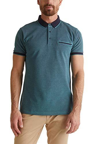 Esprit 030ee2k317 Camisa de Polo, 371/Teal Green 2, XXL para