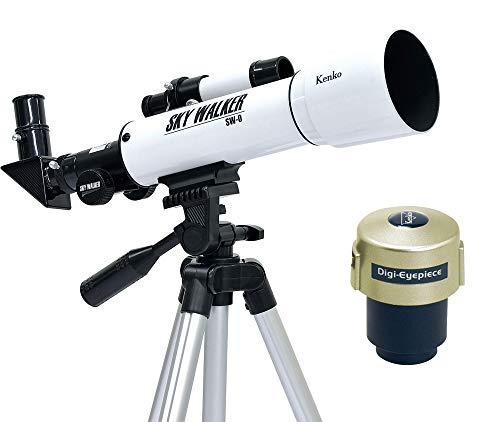 Kenko Telescope Sky Walker Sw-0 with Digi-Eyepeice Refracting Telescope White