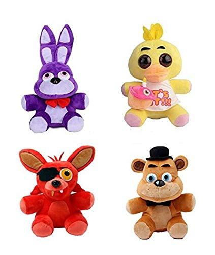 HeyFun 4pcs Plush 5' Dolls Soft Toys Five Nights at Freddy's Inspired