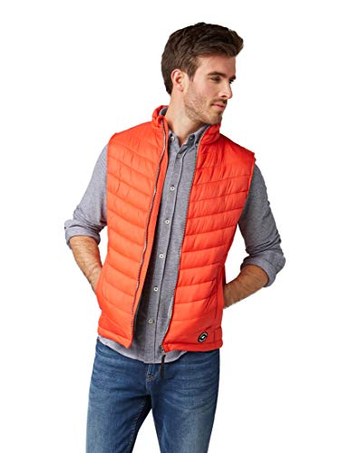TOM TAILOR Herren 1007500 Outdoor Weste, Rot (Basic Red 13189), M