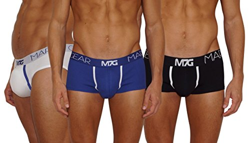 Mark7Gear Boxers and Slip Homme, 3-Pack Mix avec Boost Engeneering (Push-UP) (Medium)