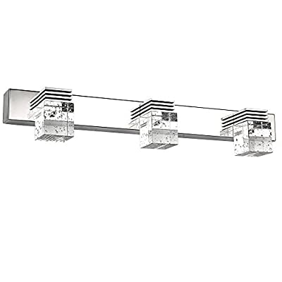 Letsun Modern 12w Cool White 650lm 4-light Led Bathroom Crystal Lights Wall LED Lamps Cabinet Mirror Lighting