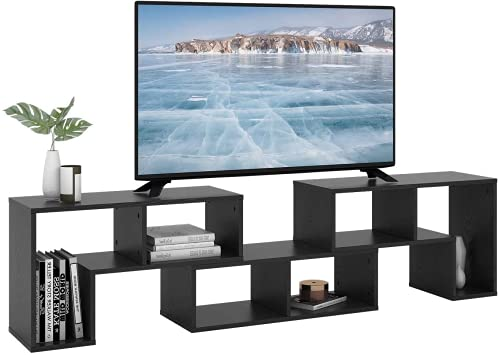 DEVAISE 3 Pieces TV Console Stand, Modern Entertainment Center Media Stand, TV Table Storage...