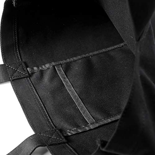 Dickiesディッキーズスマイルロゴキャンバスデニムトートバッグ2020年dwearsステッカー入りメンズレディーストートバッグ<ブラック>