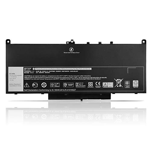 K KYUER MC34Y J60J5 7.6V 55WH Batería para DELL Latitude E7270 E7470 P61G001 P26S P26S001 Series Notebook 0MC34Y J6OJ5 NJJ2H R1V85 451-BBSX 451-BBSY 451-BBSU 242WD 1W2Y2 GG4FM WYWJ2 Laptop Battery
