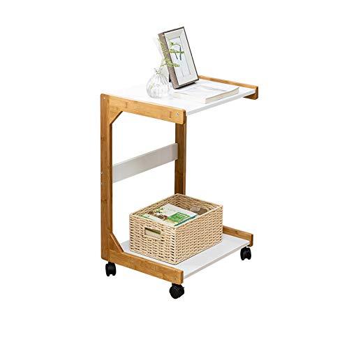KAISIMYS Tavolino da caffè,Tavolino Basso da Salotto con Ruote - Materiale in Legno - Tavolino da Divano - Tavolino da caffè Moderno in Un Design alla Moda con Mensola