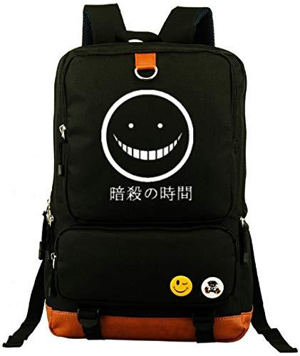 yoyoshome® Asesinato aula Anime Cosplay luminoso Bookbag Mochila Bolso De Escuela