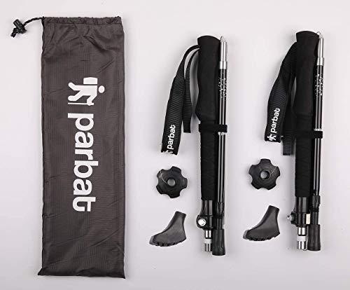 Walking Trekking Poles - 2 Pack, Lightweight and Ultra Portable Hiking Sticks for Trekking/Camping/Climbing/Backpacking/Nordic Walking