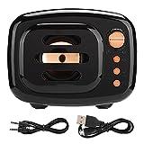 HaoZUyouxuankj Altavoces Bluetooth, Mini altavoz estéreo inalámbrico Bluetooth portátil Soporte para tarjeta de memoria para ducha fiesta barbacoa hogar viajes (negro)