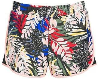 Ideology Big Girls Printed Elastic Waist Mesh Inset Active Shorts Size S RV $24