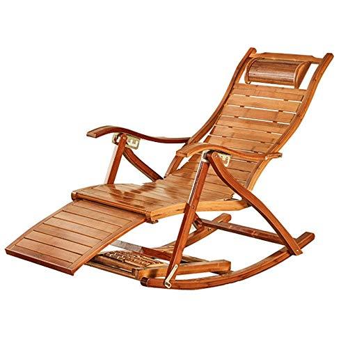 YLCJ Bamboe schommelstoel Patio Tuinstoel voor vrije tijd Opvouwbare kinderbedje Opvouwbare strandstoel Ligstoel (kleur: 03) 1 exemplaar
