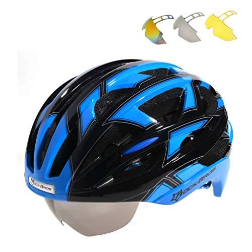 Casco para bicicleta y mountainbike de Rockbros, en talla L (57 - 62 cm) con gafas en...