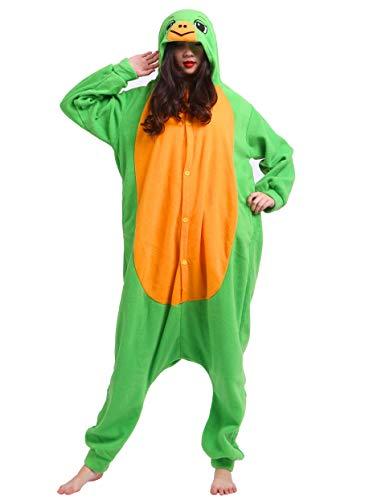Jumpsuit Onesie Tier Karton Fasching Halloween Kostüm Sleepsuit Cosplay Overall Pyjama Schlafanzug Erwachsene Unisex Lounge, Schildkröte, Erwachsene Größe M - für Höhe 156-167CM