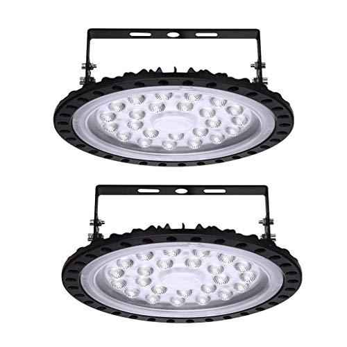 100W UFO LED Lámpara de Alta Bahía 10000LM 6000K-6500K UFO Luces blanca fría LED Proyector impermeable IP65 Iluminación de Comercial LED 10000 lúmenes Iluminación Lámpara industrial