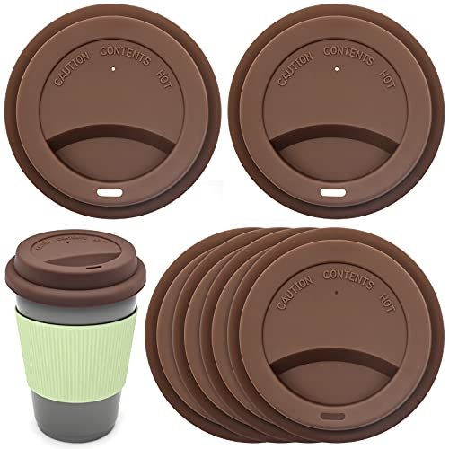 INHEMING Tapa de Bebida de Silicona, Tapa a Prueba de Derrames, Tapas de Taza de Café Reutilizables,6 Piezas