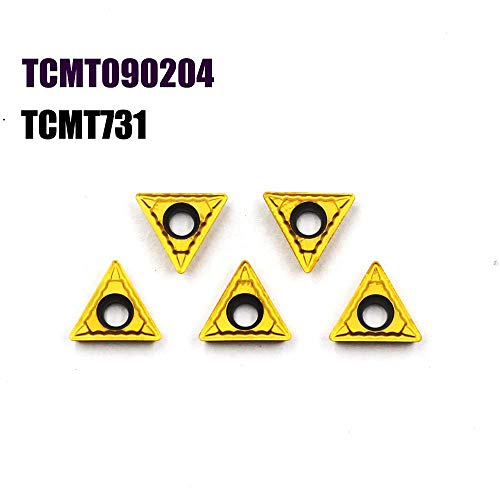 OSCARBIDE Carbide Turning Inserts TCMT090204 TCMT Insert CNC Lathe Inserts for Lathe Turning Tool Holder Replacement Insert, 5 Pieces