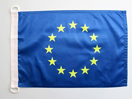 AZ FLAG Bandiera NAVALE Europa 45x30cm - Bandiera MARITIMA Unione Europea – UE 30 x 45 cm Speciale nautismo