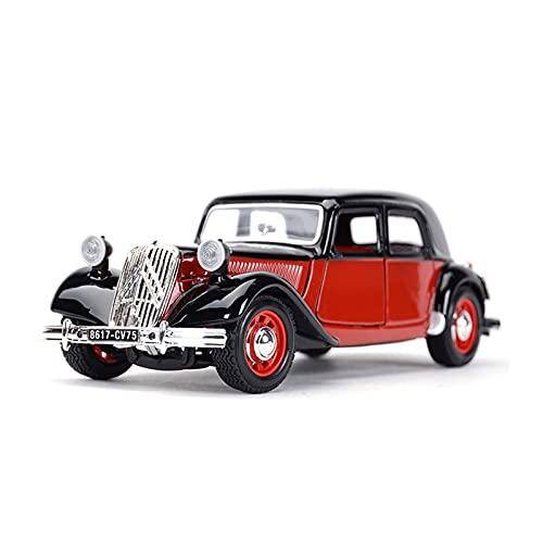 NMBD 1:24 para 1938 Citroen 15 Cvta Coche Clásico Estático Vehículos De Fundición Modelo Coleccionable Juguetes De Coche Colección (Color : 1, Size : A)