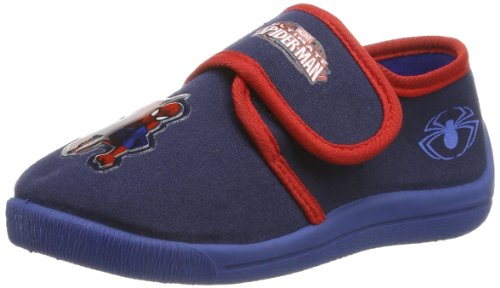 Spiderman Jungen Boys Kids Velcro Low Houseshoes Pantoffeln, Mehrfarbig (Navy/RED 336), 30